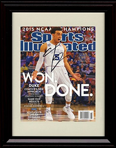 Framed Tyus Jones Duke Blue Devils Sports Illustrated Autograph Replica Print - 2015 Champs!