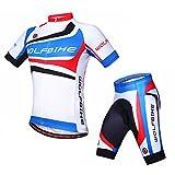 Wolfbike Men Cycling Jersey + Short Sportswear Suit, Skyline, Size: USXL/CNXXXL