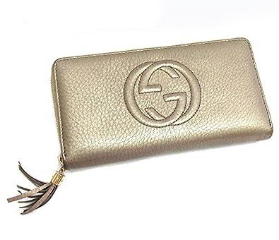 a653bf0c45d5 Amazon   グッチ ソーホー ラウンドファスナー 長財布 タッセル メタリックゴールド×ゴールド金具 レザー [中古]   GUCCI(グッチ)    財布