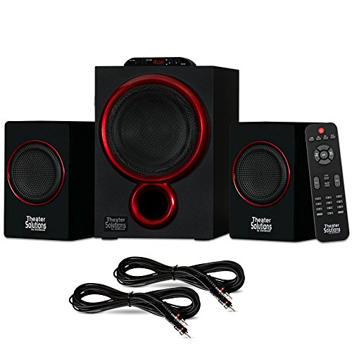 Theater Solutions TS212 Powered 2.1 Speaker System Multimedi