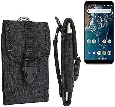 K-S-Trade Bolsa del Cinturón Funda Compatible con Xiaomi Mi A2, Negro | Caja del Teléfono Cubierta Protectora Bolso: Amazon.es: Electrónica