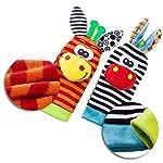 Baby Rattle Neonato Sonagli Calzini da Polso a Sonaglio per Bambini, Simpatici Animaletti Developmental Soft Toys… Abbigliamento Baby Rattle 15