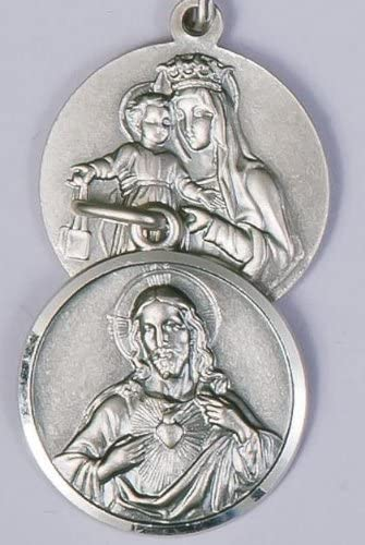 925 Sterling Silver Antiqued Our Lady of Mount Carmel Medal