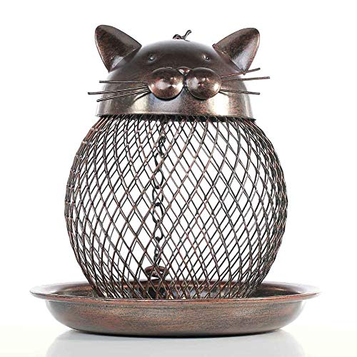 NOBLJX Bird Feeder Hanging Caged Wild Bird Feeders Seeds Nuts Lantern & Fat Balls Squirrel Guard for Birds Outside Birdhouse Squirrel-Proof Garden Yard - Balls Bird Fat Wild