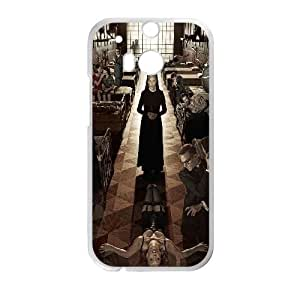 HTC One M8 Cell Phone Case White ha29 american horror story asylum film face Wfzjd