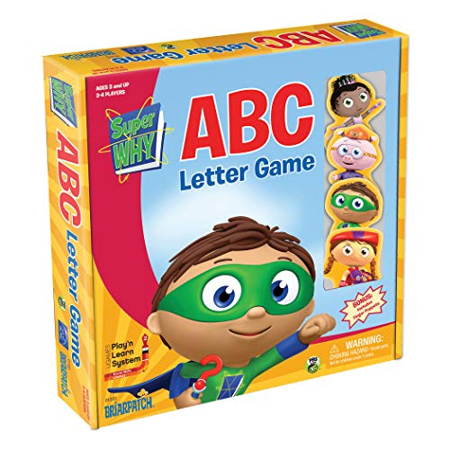 Briarpatch Super Why ABC Game PBS Kids Early Reading & Spelling Development, Improve Childhood Literacy & Social Skills Includes Finger Puppets