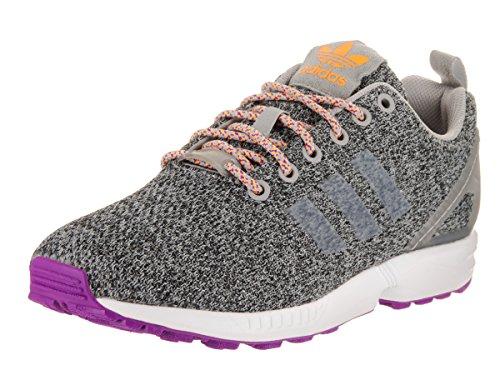 adidas Originals Women's zx Flux w Running Shoe, MGH LGH Solid Grey/Neon Orange, 8.5 M - Zx Womens Adidas