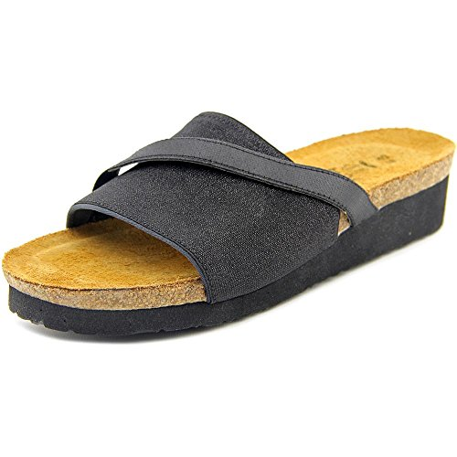 Stretch Comfort Sandal (Naot Women's Marion Wedge Sandal, Black Sparkle, 40 EU/8.5-9 M)