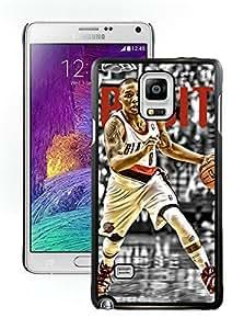 New Custom Design Cover Case For Samsung Galaxy Note 4 N910A N910T N910P N910V N910R4 Portland Trail Blazers damian lillard 5 Black Phone Case