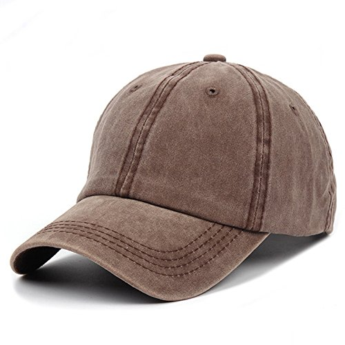 (G4S3 Unisex Solid Classic Cotton Adjustable Washed Twill Low Profile Plain Baseball Cap Sport Hat (Coffee))