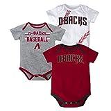 MLB Arizona Diamondbacks Newborn Boys 3 Strikes Body Suite, 3/6 Months, Rio Red