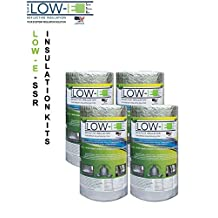 """4 PACK Wholesale Lot: ESP Low-E® SSR Reflective Foam Core Insulation Kit: 4 Rolls (Size 16""""x50') Includes 50' Foil Tape per roll, Knife & Squeegee. Multipurpose Home Insulation For Your Building Project or Just Every Day Household Needs."""