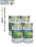 4 PACK Wholesale Lot: ESP Low-E® SSR Reflective Foam Core Insulation Kit: 4 Rolls (Size 16''x50') Includes 50' Foil Tape per roll, Knife & Squeegee. Multipurpose Home Insulation For Your Building Project or Just Every Day Household Needs.