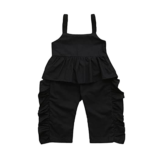 5dcfd0c64b Amazon.com  Pollyhb Baby Girls Summer Jumpsuit Outfits