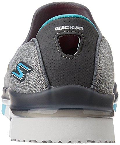 Flex Skechers charcoal Grigio blue Donna Allenatori Go qUwUxO5R