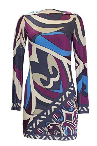 Analili Women's Abstract Print Long Sleeve Sheath Dress 1078S01 Medium Multi