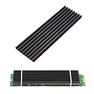 Aluminum Heatsinks for PCIe NVMe M.2 2280 SSD with Silicone Thermal Pad, DIY Laptop PC Memory Cooling Fin Radiation Dissipate (Ordinary Edition) from Angel mall