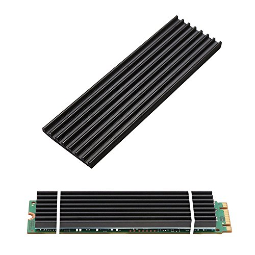 Aluminum Heatsinks for PCIe NVMe M.2 2280 SSD with Silicone Thermal Pad, DIY Laptop PC Memory Cooling Fin Radiation Dissipate (Ordinary Edition) (Express Intel Notebooks)