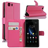 DOOGEE X5 Case, Doogee X5 Pro Case, Fettion Premium PU Leather Wallet Phone Cases Flip Cover with Stand Card Holder for Doogee X5 / Doogee X5 Pro Smartphone (Wallet - Rose)