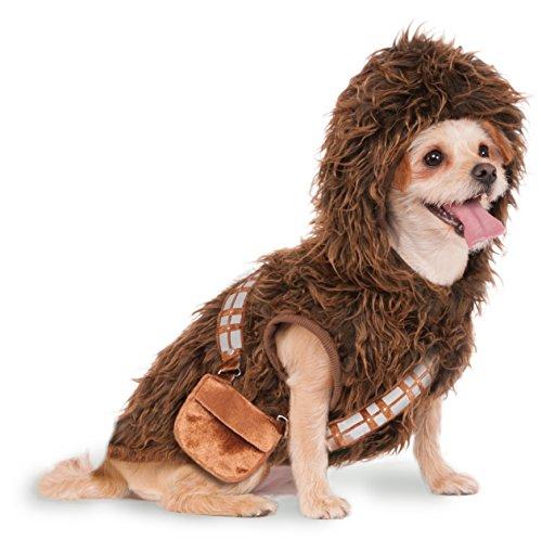 Pet Star Wars Costumes (Rubies Costume Star Wars Chewbacca Hoodie Pet Costume, Small)