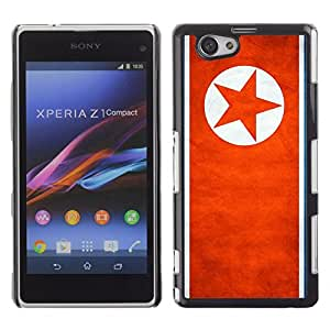 Shell-Star ( National Flag Series-North Korea ) Snap On Hard Protective Case For SONY Xperia Z1 mini