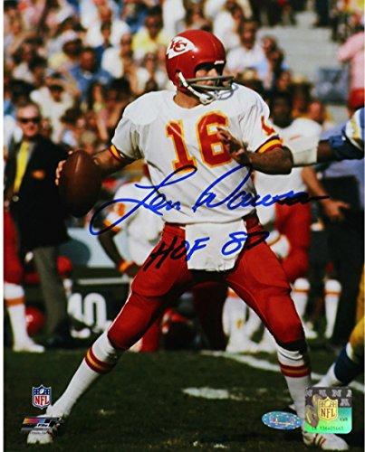 NFL Kansas City Chiefs Len Dawson Signed Dropping Back 16x20 -