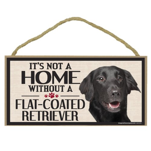 Imagine This Wood Sign for Flat-Coated Retriever Dog Breeds ()