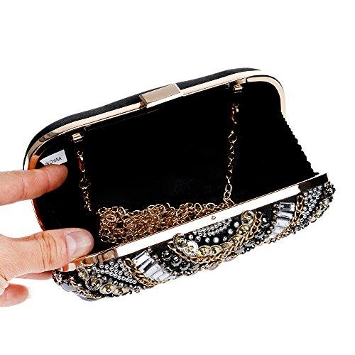Bag Bag Evening Dress Beaded Women's Fashion Banquet Bag GROSSARTIG Evening Transparent Hand Lady Rq0X6qnw