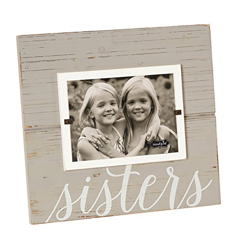Mud Pie 4695392 Painted Sisters Wood Photo Frame, 5