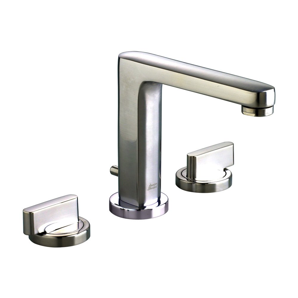 American Standard 2506.821.075 Moments Two Handle Widespread Faucet Speed Connect Pop Up Drain Lever Handles, Stainless Steel