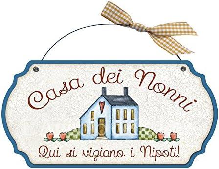 LAngolo delle Idee Targa Sagomata SUPERNONNI in Servizio casa Idea Regalo Made in Italy Fuoriporta