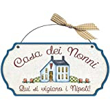 Targa sagomata Casa dei nonni..nipoti casa idea regalo made in italy Fuoriporta