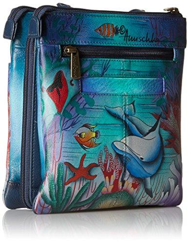 596 Bagaglio Anuschka World Dolphin multicolore Mano dwd A nBpYpqUdw