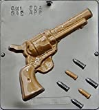Revolver Gun with Bullets Chocolate Candy Mold 542