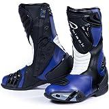 Black Zero Bottes de motard imperméables pour la course