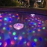 Hyperia RGB Glow Light Underwater LED Disco Aquarium Glow Light Waterproof in tub Pond Pool Spa Hot Tub Bathtub Floating Lamp with 5 Pattern Modes