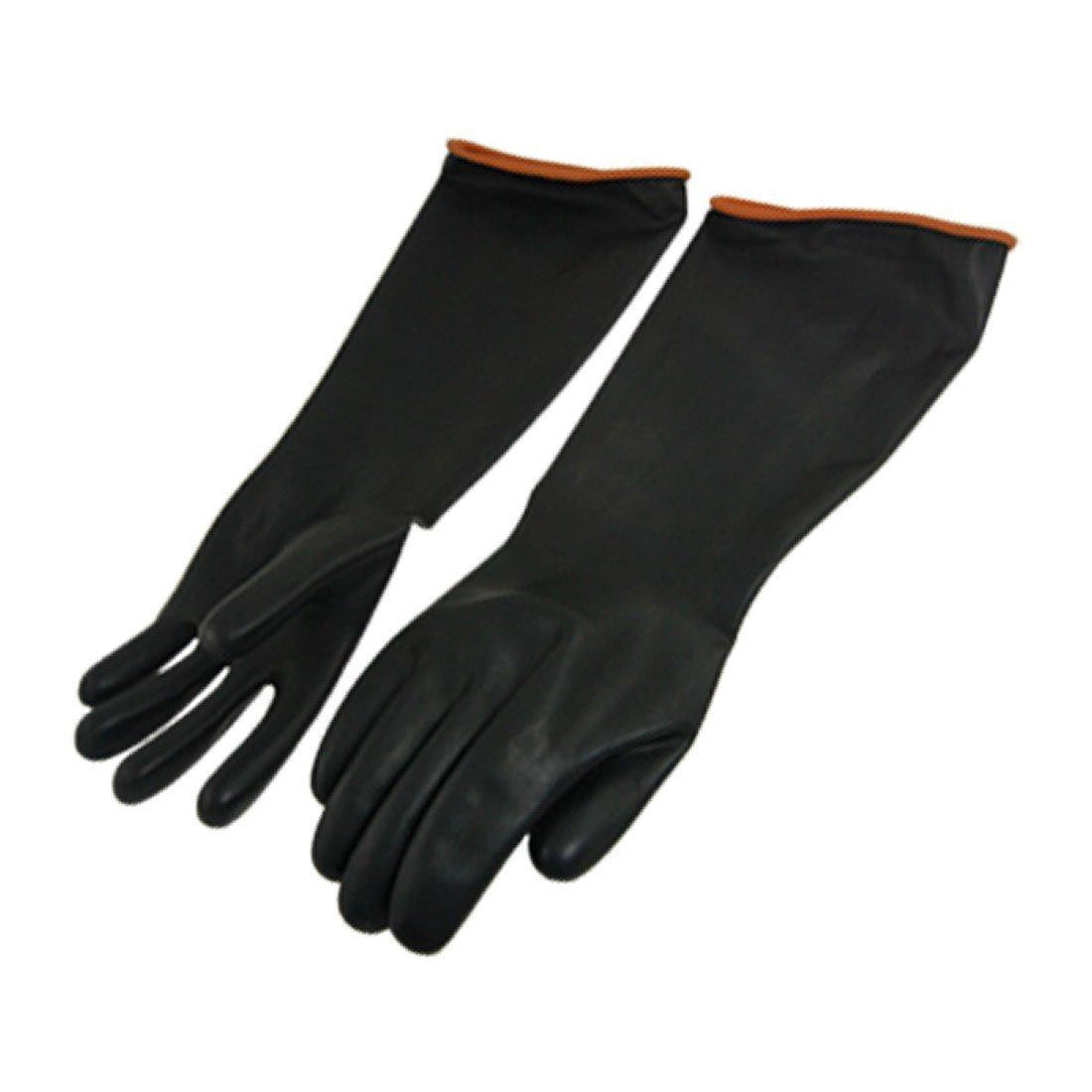 Paar chemikalienbeständigkeit Industrie Ellenbogen lange Gummi Handschuhe 45, 7cm Länge 7cm Länge Sourcingmap a11111100ux0133