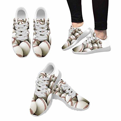 D-story Jogging Running Sneaker Seamless Pattern Da Baseball Da Donna Casual Comfort Sportivo Da Passeggio Scarpe Da Corsa Bianche