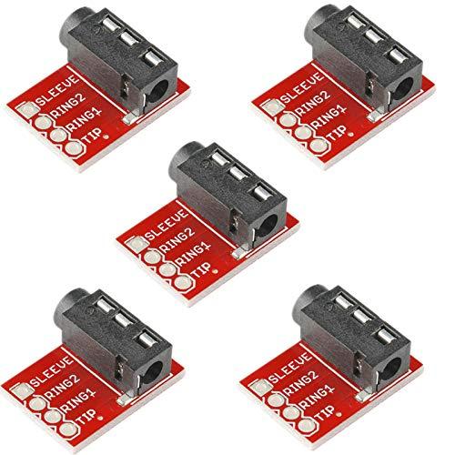 FidgetKute 5PCS TRRS 3.5mm Jack Breakout Headphone Video Audio MP3 Jack Show One Size (Edirol Usb Audio Capture Ua 25 Driver)