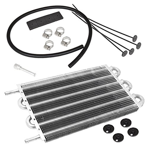 Universal Power Steering Transmission Oil Cooler Aluminum Silver High Performance 12 X 7 5 X 0 75 Inch