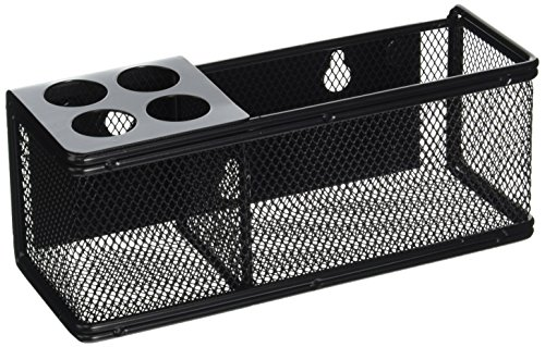 (Safco Products 3612BL Onyx Mesh Marker Organizer Basket, Black)