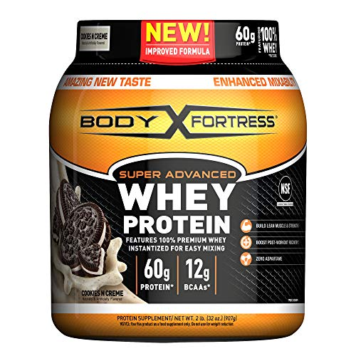 Body Fortress Super Advanced Whey Protein Powder, Cookies N' Cream, 2 lbs (Packaging May Vary) (Best Milk To Use With Whey Protein)