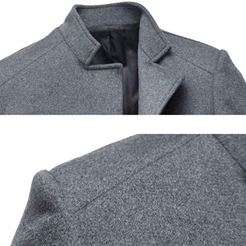 Laine De Hiver Et Hommes Veste D'hiver Pour Mâle Rlrl Chaud Slim Automne Type Gray Manteau Épais 5ESwqYW0