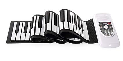 Piano Portátil Flexible De 88 Teclas Altavoz Estéreo Magnético Dual Con Teclado Suave USB Plegable,