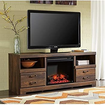 Amazon Com Ashley Harlinton 63 Quot Tv Stand With Led