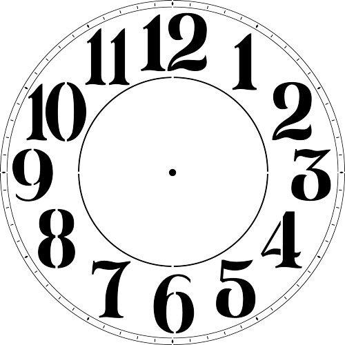 Modern Numeral Clock Stencil - (12 -40 Inch) 3744 by Designer Stencils (40 Inch, 10 mil plastic) by Designer Stencils
