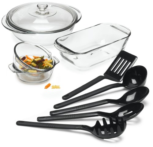 Anchor Hocking Expressions 9 Piece Ovenware Set