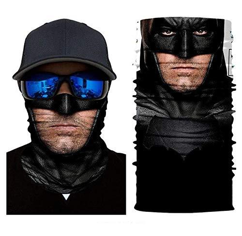 3D Bruce Wayne Sun Mask Tube Neck Face Scarf Lower Half Face Motorcycle Bicycle Shield Sun Air Soft Outdoor Biker Riding Masks No.170