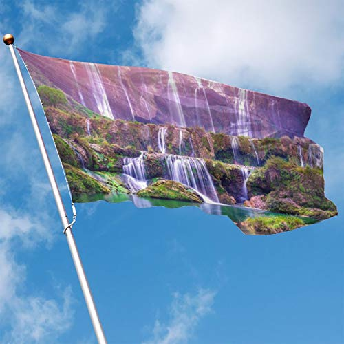 YUANSHAN Home Garden Flag Nature Waterfall Polyester Flag Indoor/Outdoor Wall Banners Decorative Flag 3' X 5'