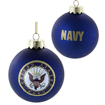 U.S. Navy Glass Ball Ornament, 80mm - Amazon.com: U.S. Navy Glass Ball Ornament, 80mm: Home & Kitchen